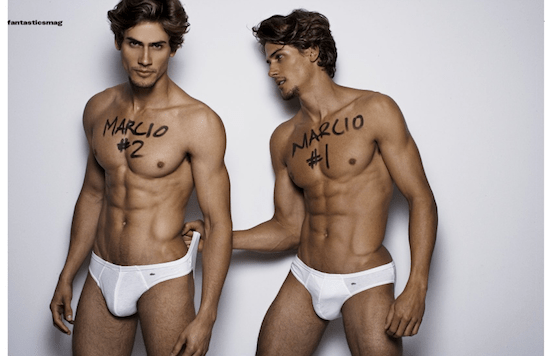 Twin Brothers In Underwear