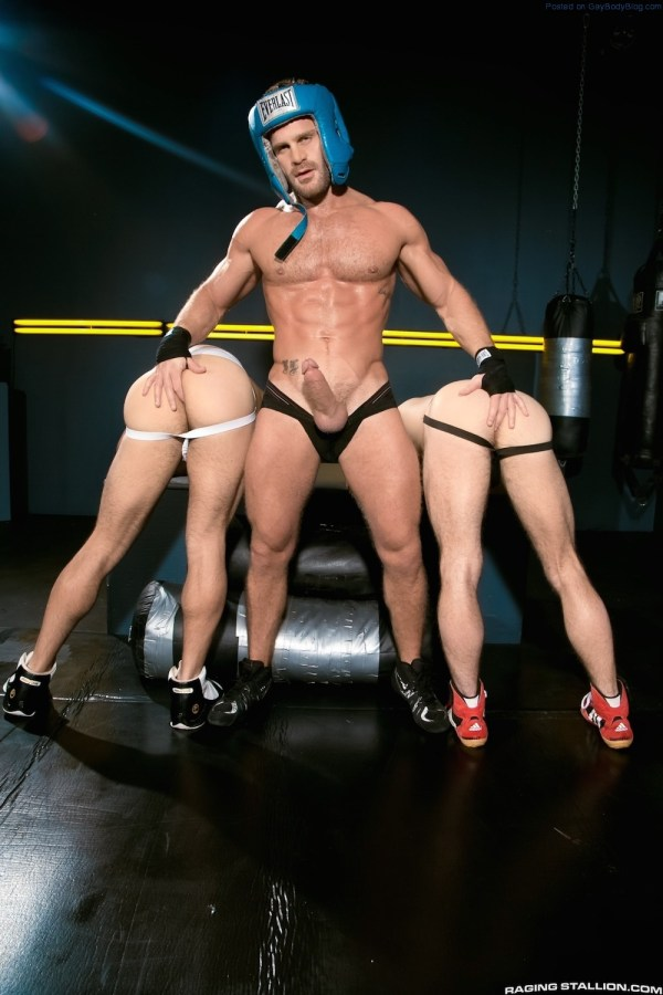 Sporty Muscle Fucking With Landon Conrad, Shawn Wolfe And Adam Ramzi 1