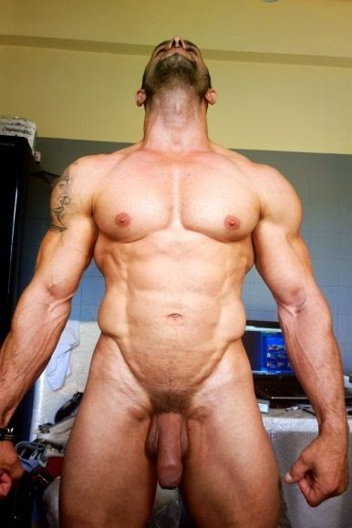 Naked Muscle Guys Showing Off 9