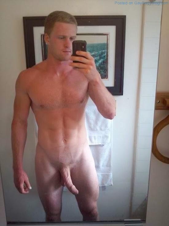 Man selfie naked