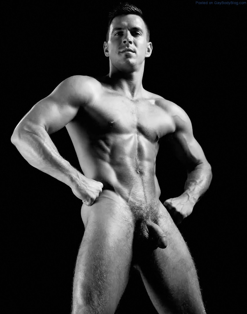 Muscular men almost nude