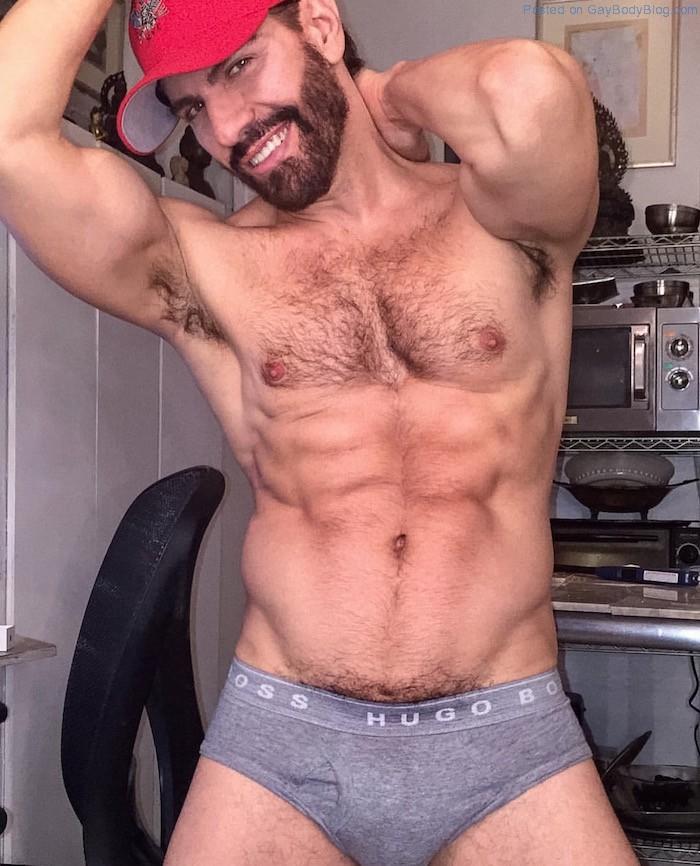 Muscular hairy hunk