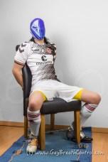 EmoBCSMSlave Soccer Duct Tape and Swim Cap Breathplay
