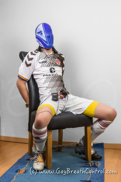 EmoBCSMSlave Soccer Duct Tape and Swim Cap Breathplay