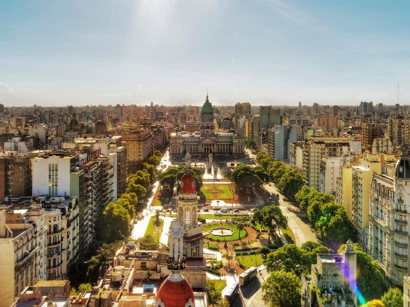 Palacio del Congreso from Palacio Baralo in Buenos Aires