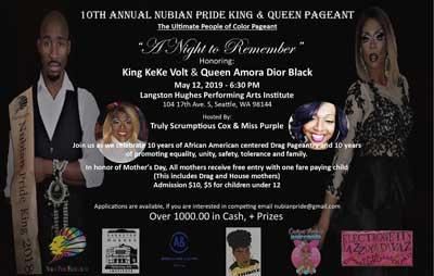 Nubian Pride King & Queen pageant flyer