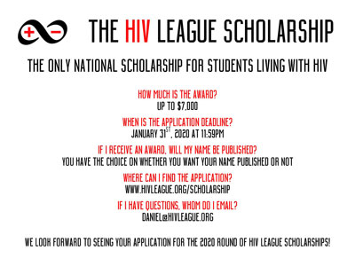 HIV League Scholarship flyer