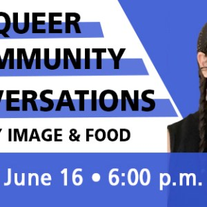 qcc: body image & food event flyer featuring Brooke Stepp