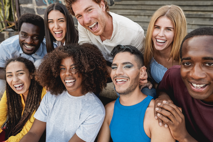 Photo of group of young diverse people