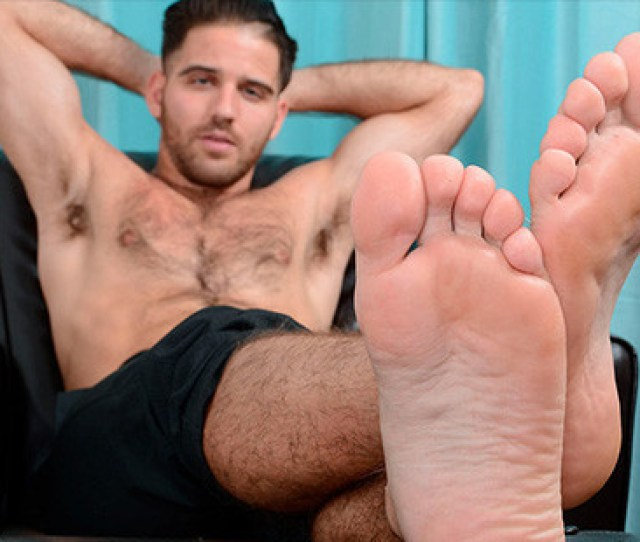 Barefoot And Hairy Hunk