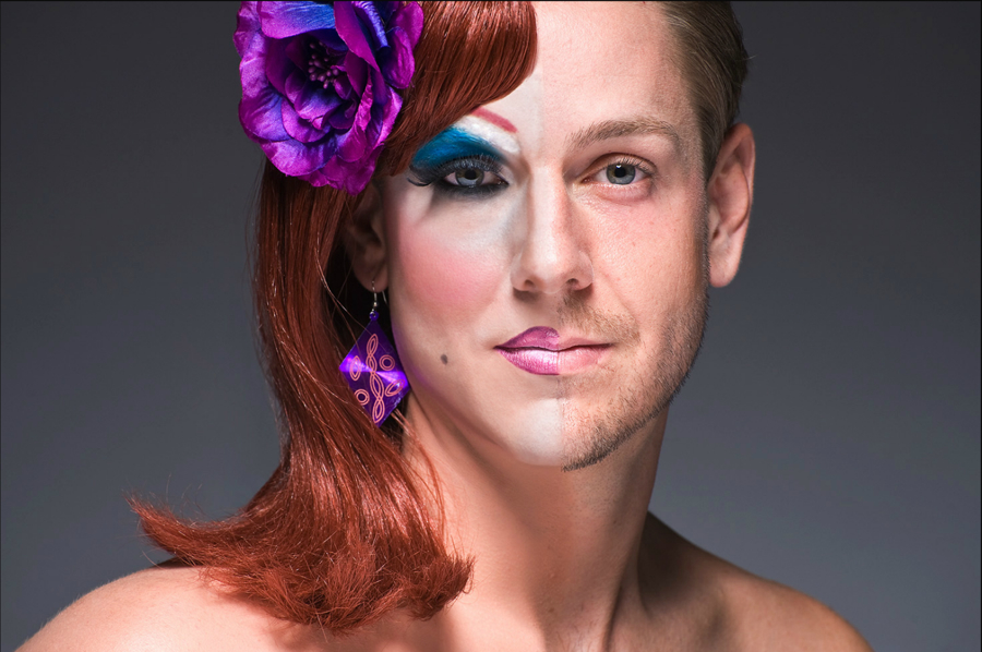 Portrait of a drag queen by Leland Bobbe