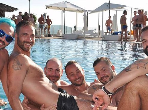 Maspalomas Winter Pride pool party