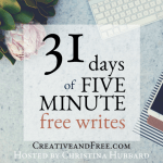 five-minute-friday-feewrite