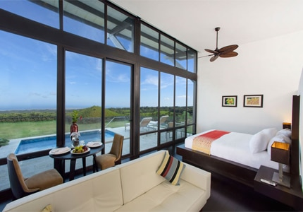 A guest room at Pikaia Lodge on Santa Cruz Island, Galapagos