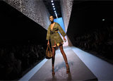 A Missoni runway show at Milan Fashion Week in Italy
