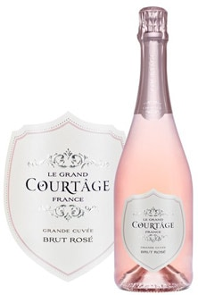Le Grand Courtage Brut Rose, Top 10 Sparkling Wines, pairs well with duck and game
