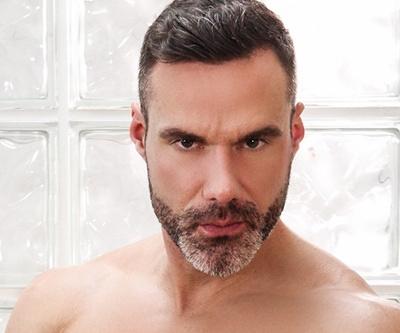Hung and uncut gay porn star Manuel Skye