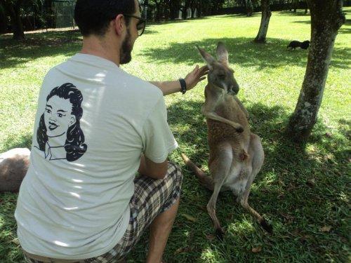 Larry and a Kangaroo