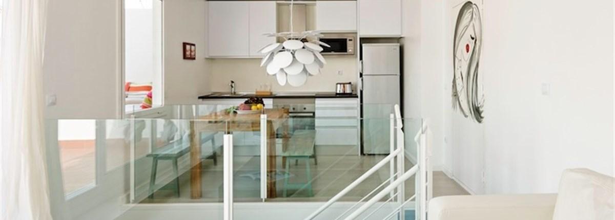The Blue & White Attic Apartment