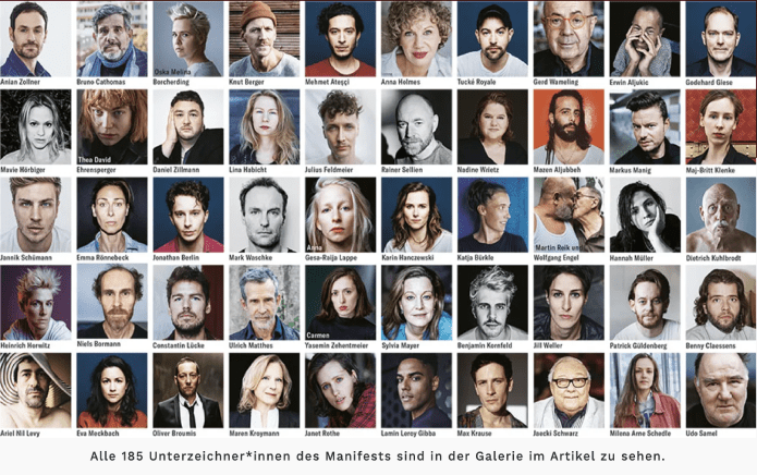 Image result for 185 German LGBTQ+ actors bravely come out in fight for visibility