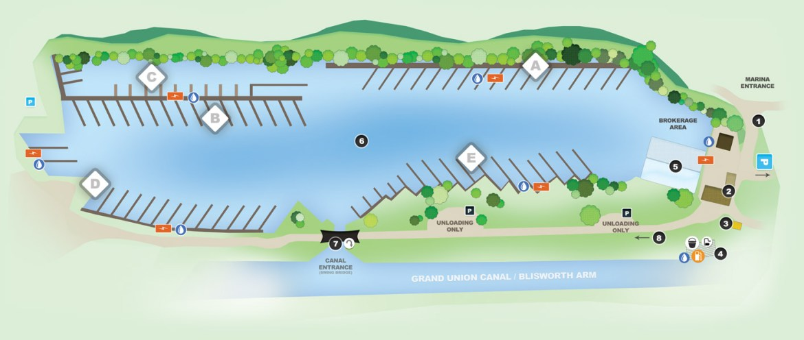 Gayton marina services map