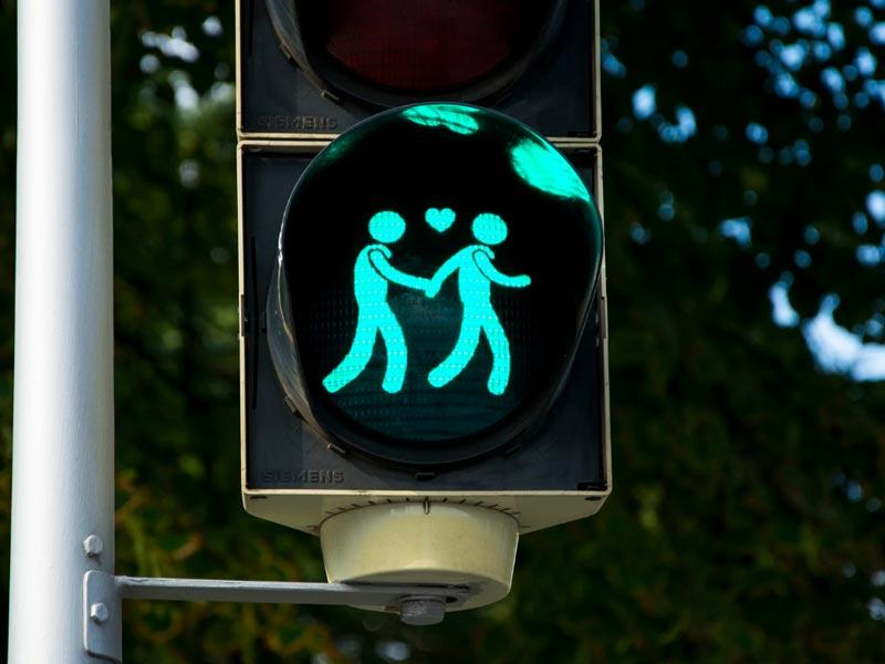 Gay Traffic Lights Vienna