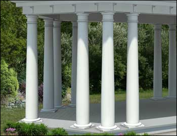 Gazebos With 10 Quot Round Tapered Vinyl Columns Gazebos By