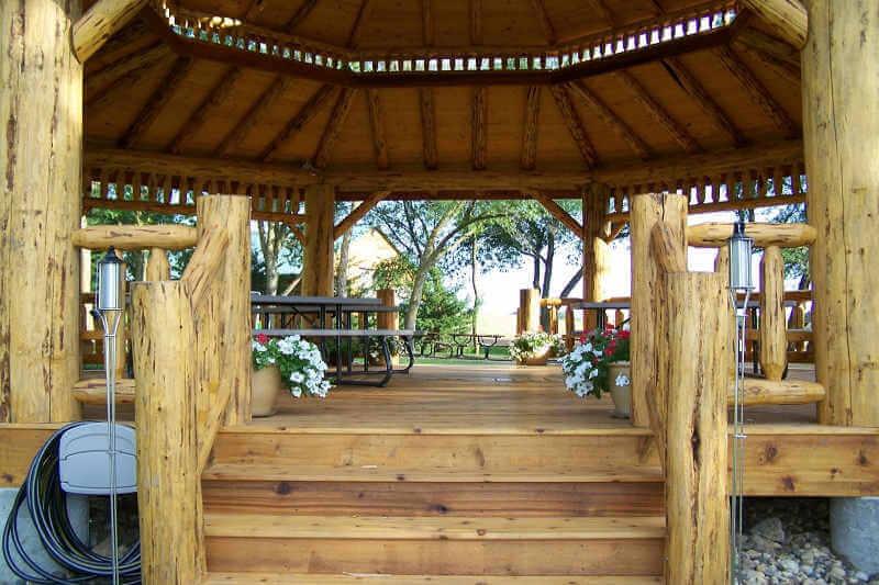 Gazebo Depot Log Octagon Gazebo Kit Log Gazebos