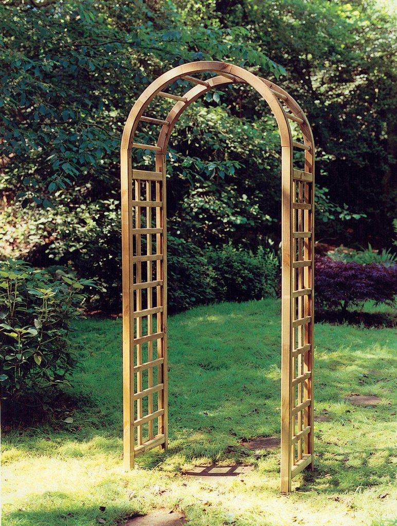The Elite Wooden Garden Arch Gazebo Direct