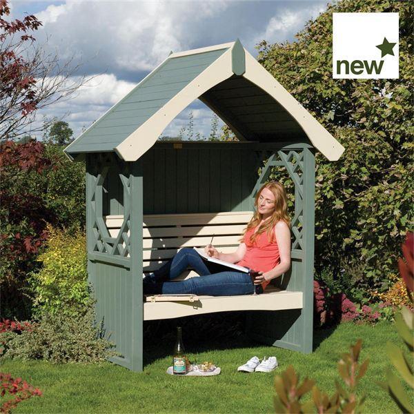 Britannia Wooden Garden Arbour Gazebo Direct