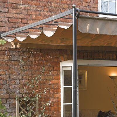 St Tropez Steel Pergola Cheap Garden Sun Canopy For Sale