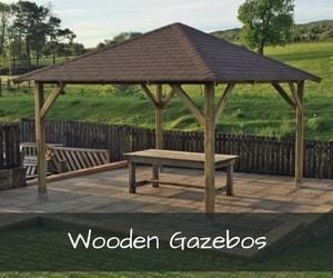 buy cheap wooden garden gazebos