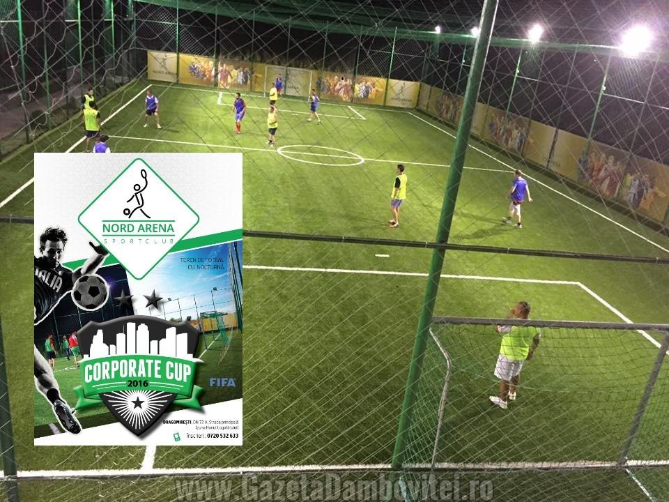 Team Building inedit! Campionat de fotbal pentru companii, la Târgoviște, pe Nord Arena!