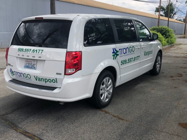 Submitted photo One of the three six-passenger mini-vans given to TranGo by the Washington State Department of Transportation. TranGo is now looking for riders for vanpools.