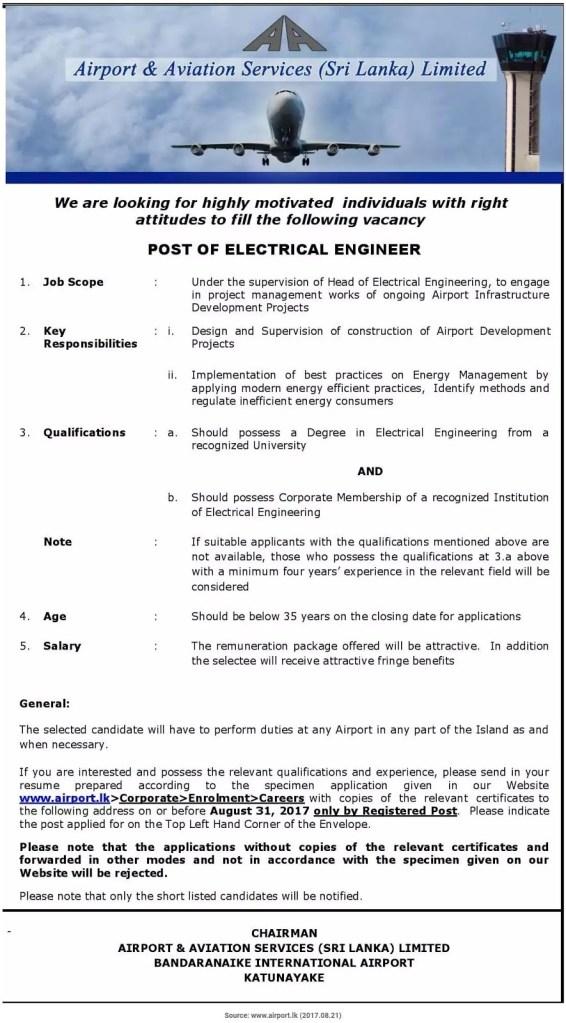 aircraft engineer salary in sri lanka