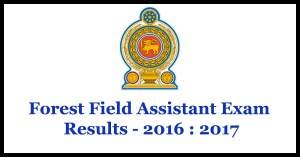 Forest Field Assistant Exam Results - 2016 : 2017
