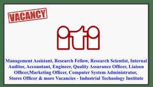 Vacancies - Industrial Technology Institute
