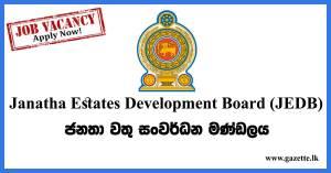 Janatha-Estates-Development-Board-(JEDB)-Vacancies