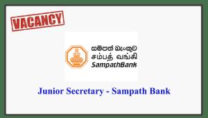 Junior Secretary - Sampath Bank
