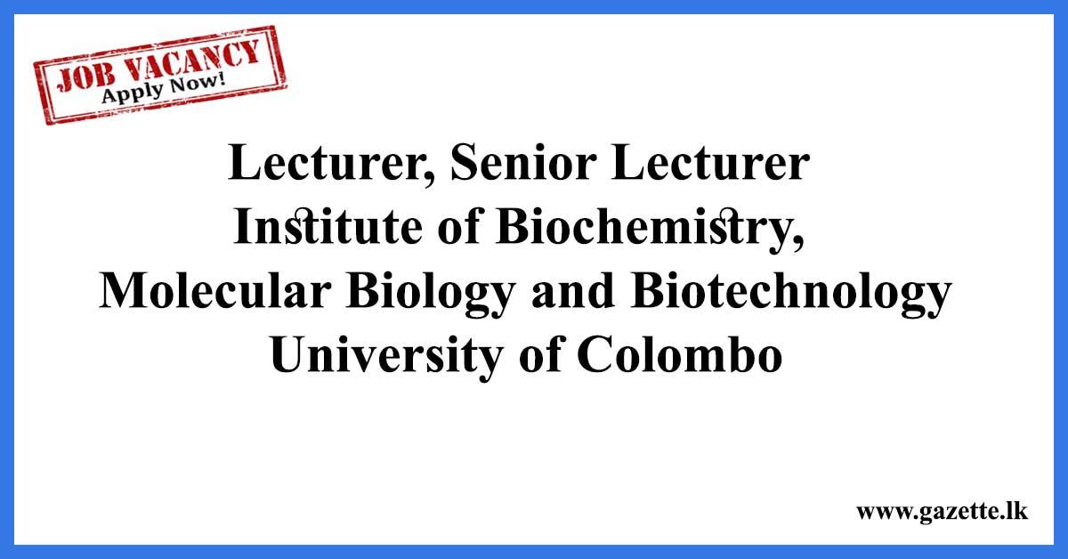 Lecturer,-Senior-Lecturer---Institute-of-Biochemistry