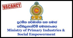 Ministry of Primary Industries & Social Empowerment
