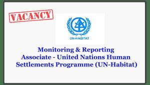 Monitoring & Reporting Associate - United Nations Human Settlements Programme (UN-Habitat)