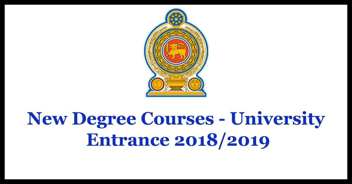 New Degree Courses - University Entrance 2018/2019