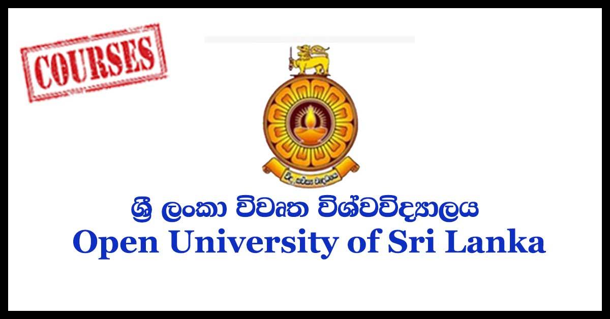 Open University of Sri Lanka courses