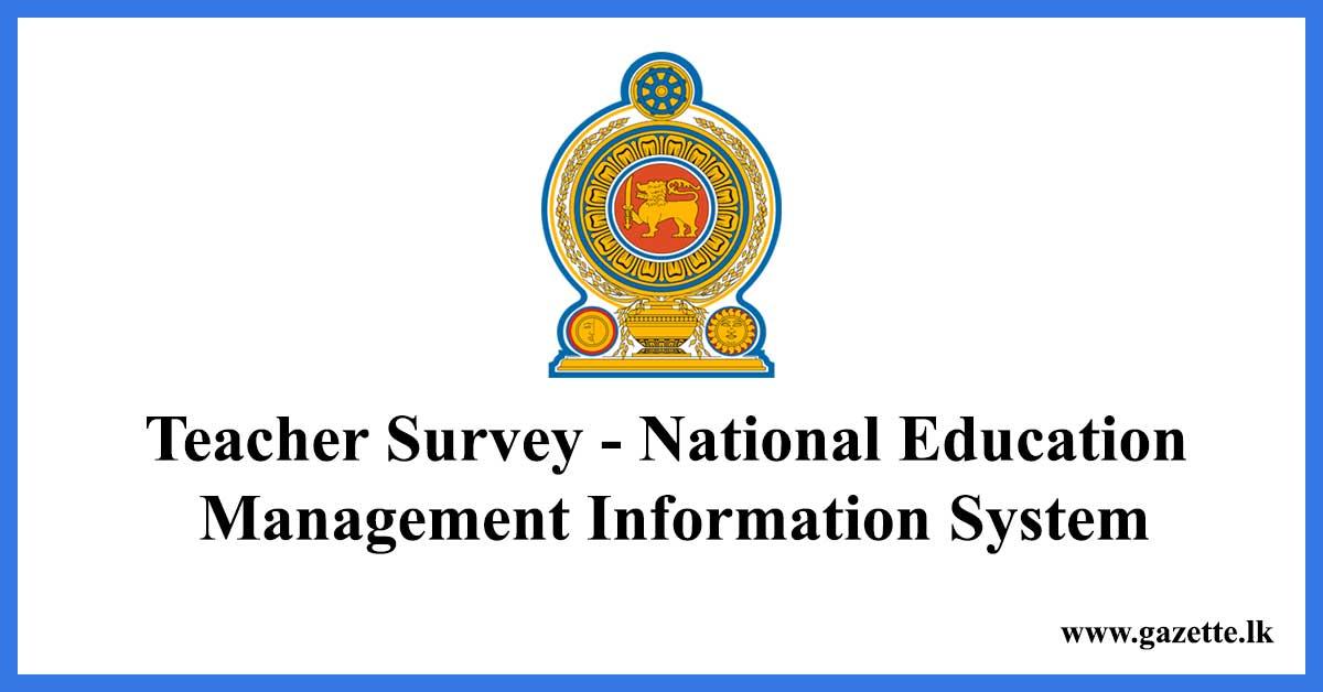 Teacher Survey - National Education Management Information System