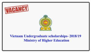Vietnam Undergraduate scholarshipd- 2018/19 - Ministry of Higher Education