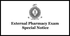 external Pharmacy Course Exam - eylon Medical College Council