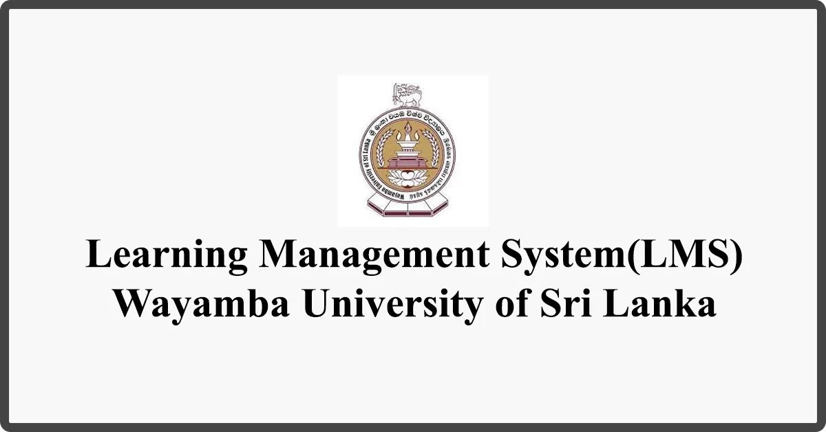 Study Online - Learning Management System - Wayamba University of Sri Lanka