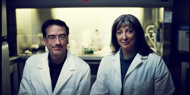 Drs. Robert Gendron and Hélène Paradis.