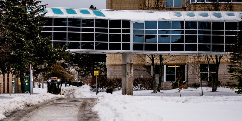 A plow on Memorial's St. John's campus